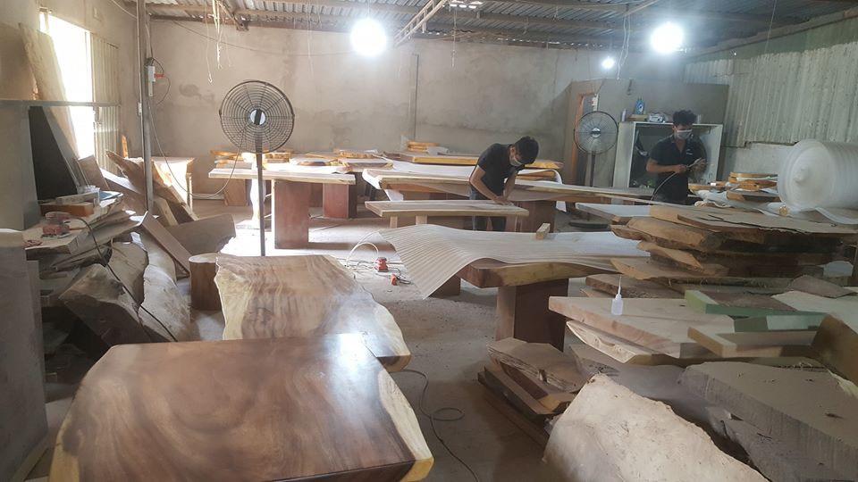 Xưởng sản xuất sỉ bàn gỗ me tây