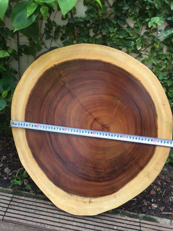 bàn tròn me tây 60cm dày 5cm