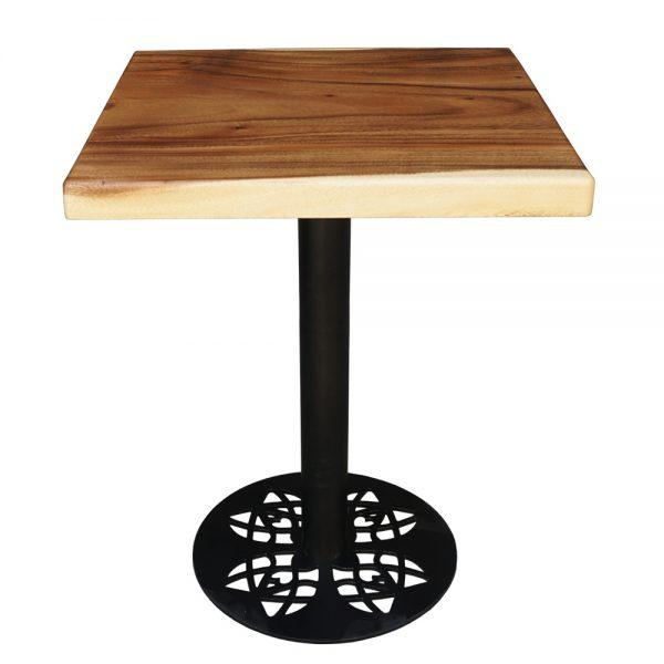 Bàn vuông cafe gỗ me tây nguyên tấm