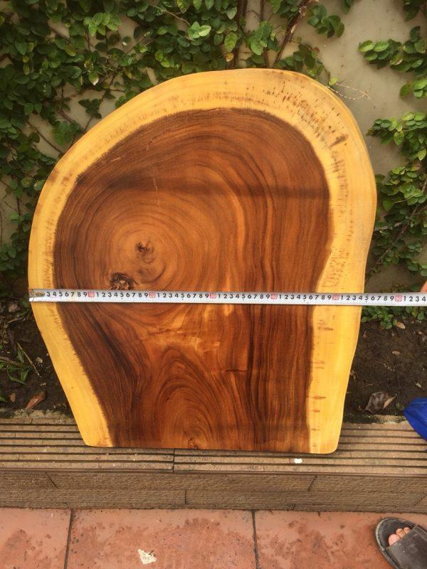 bàn tròn gỗ me tây nguyên khối