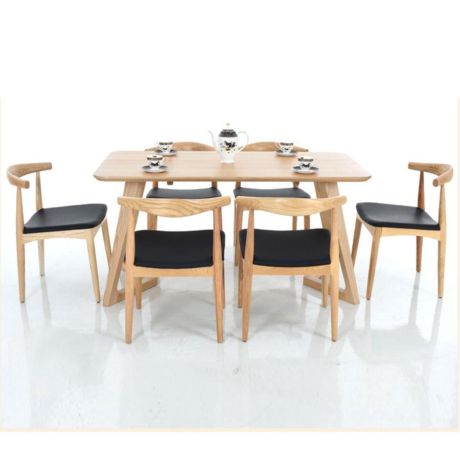 Ghế Elbow kết hợp cùng bàn ăn sang trọng