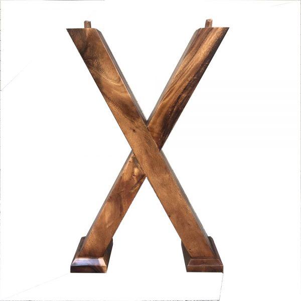 Chân gỗ me tây chữ X