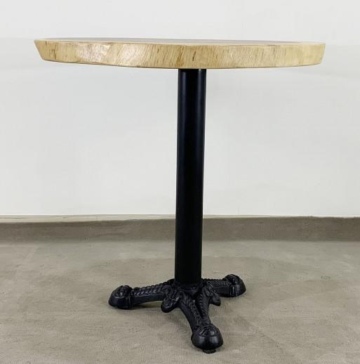 bàn tròn cafe chan sắt gang đúc 3 chĩa