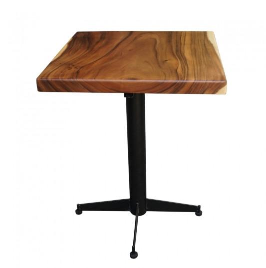 bàn cafe chân trụ sắt chữ thập