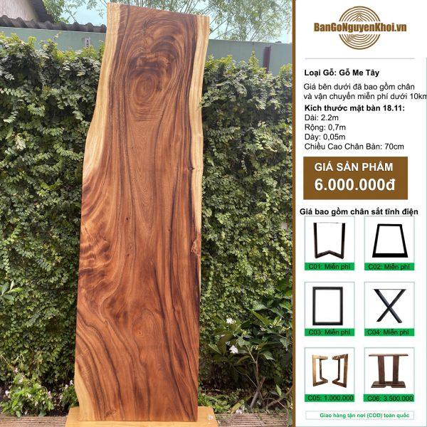 bàn ăn, bàn làm việc gỗ me tây nguyên tấm