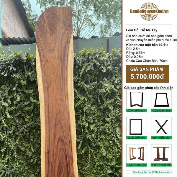 gỗ me tây nguyên tấm