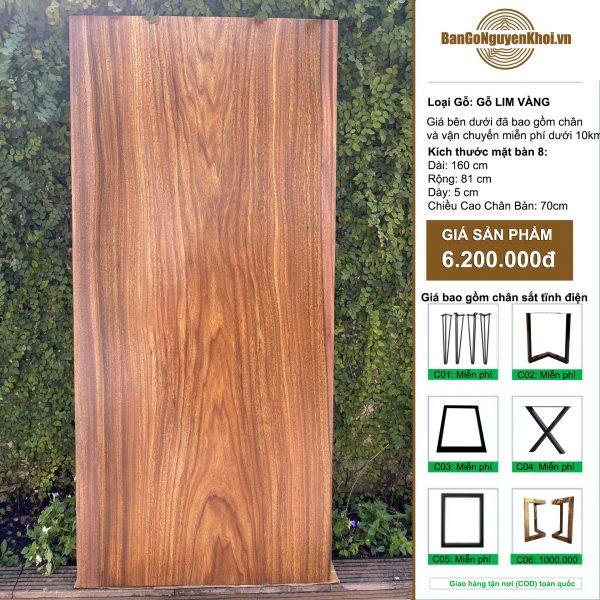 bàn gỗ lim vàng 1m6