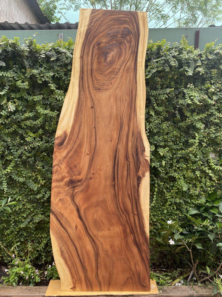 bàn ăn gỗ me tây nguyên tấm dài 2.2m