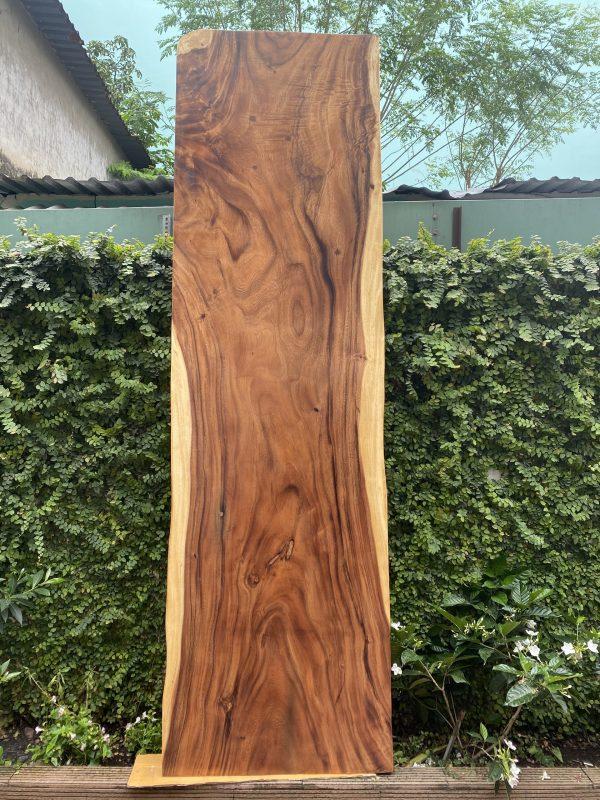 bàn ăn gỗ me tây nguyên tấm 2m8
