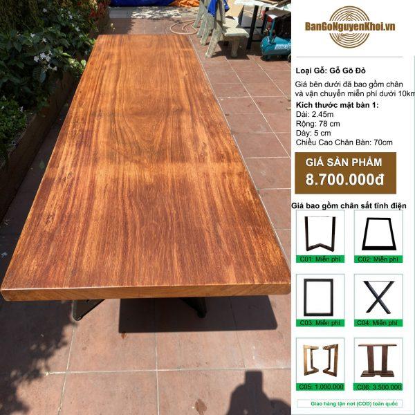 bàn gỗ gõ đỏ
