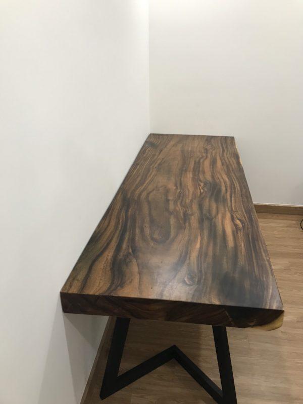 gỗ me tây nguyên tấm dài 2m1 dày 10cm
