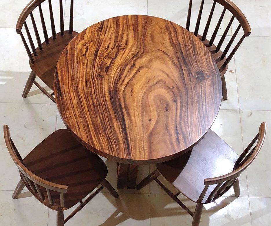 bàn tròn tự nhiên nguyên tấm