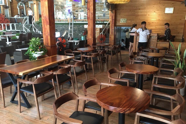 bàn gỗ me tây là sự lựa chọn tốt nhất cho nhà hàng, quán cafe