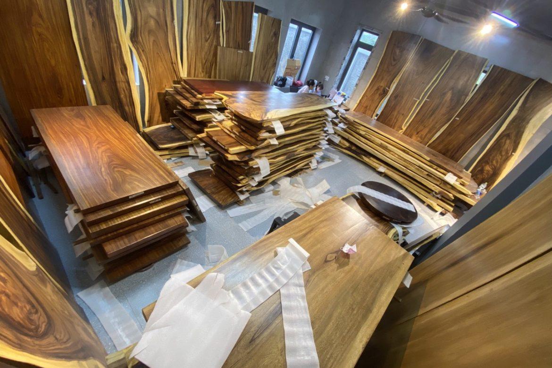 bàn gỗ nguyên tấm tự nhiên