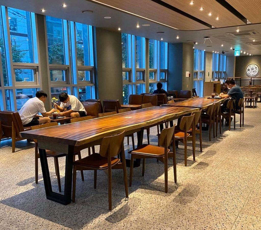 Mua bàn gỗ nguyên tấm cho quán cà phê, cafe giá rẻ