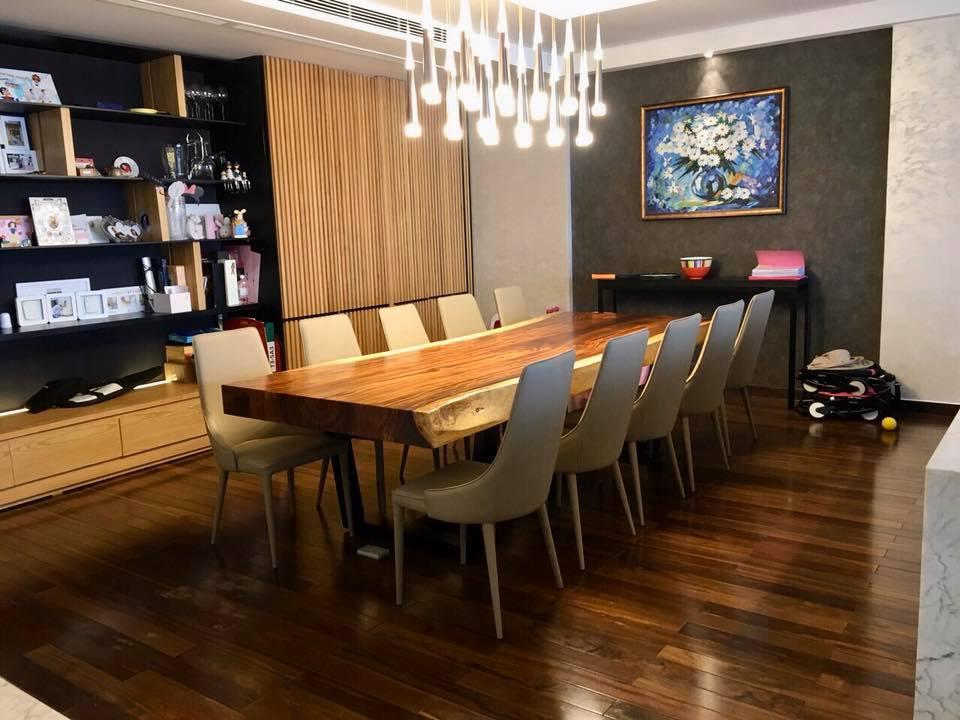 Bàn gỗ nguyên tấm me tây thích hợp với phong cách nội thất nào?
